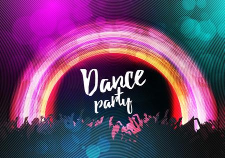 Dance Party Poster Background Template - Vector Illustration Vektorové ilustrace
