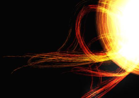 solar flare: Solar Flare Ejection - Vector Illustration Illustration