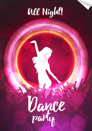 Dance Party Poster Background Template - Vector Illustration Illustration