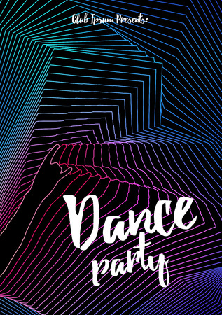 retro disco: Retro Disco Party Flyer Template - Vector Illustration Illustration