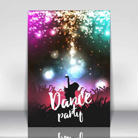 party background: Dance Party Poster Background Template - Vector Illustration Illustration