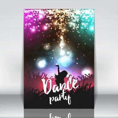 Dance Party Poster Background Template - vecteur Illustration