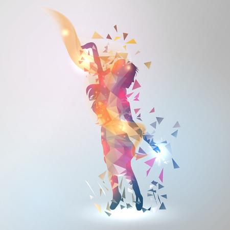 Astratta geometrica Dancing Girl