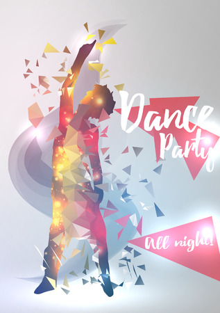 event party: Abstract Dance Music Background For Party Event Illustration