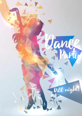 abstract dance: Abstract Dance Music Background For Party Event Illustration