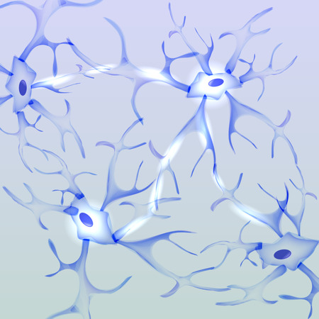 dendrites: Neuron, nerve cell - Vector Illustration Illustration