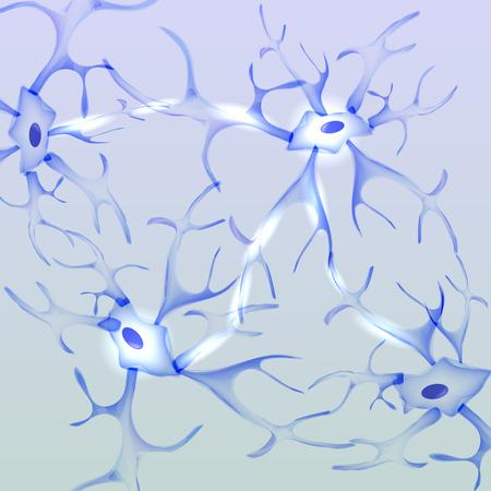Neuron, nerve cell - Vector Illustration Illustration