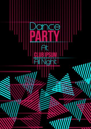 promo: Neon Triangle Retro Dance Party