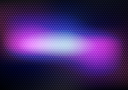 Dark Abstract Carbon Background with Colorful Light - Vector Illustration