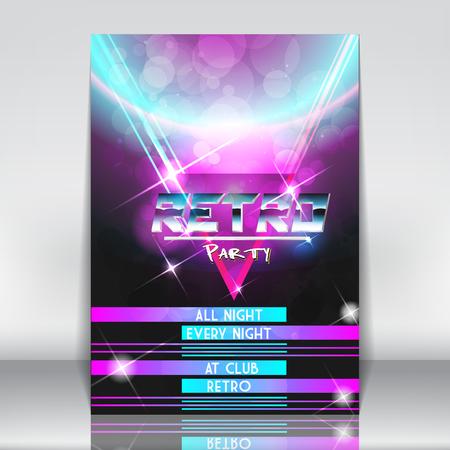 scifi: Retro Sci-Fi Poster - Vector Illustration Illustration