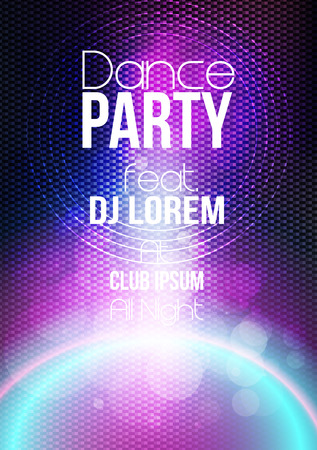 slovenly: Abstract Modern Party Poster Template - Vector Illustration Illustration