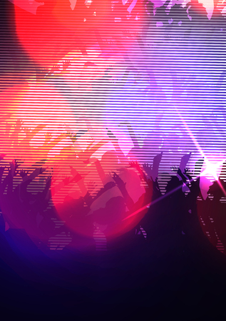 Abstract Digital Glitch Party Girl - Illustration Illustration