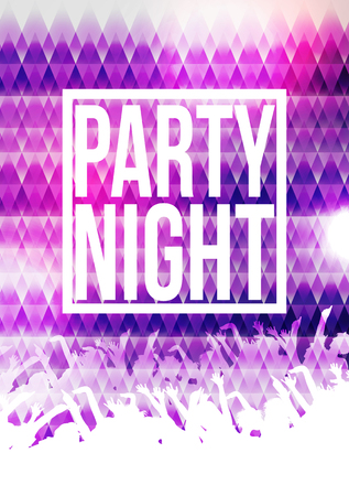 party night: Party Night Poster Background Template - Illustration