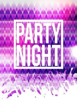 Partido de la noche Plantilla del fondo del cartel - Ilustración