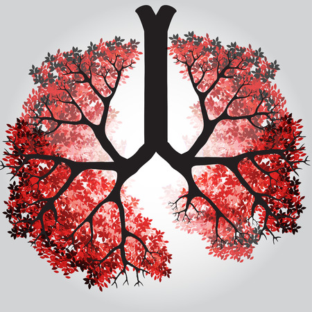 bronchiole: Tree Branches Like Lungs - Vector Illustration