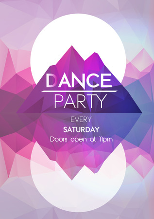 happy business team: Abstract Geometric Dance Party Poster Template - Vector Illustration Illustration