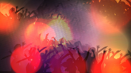 Abstract Digital Glitch Party Poster Background - Vector Illustration