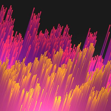Abstracte Fiber Optics Achtergrond - Vector Illustratie