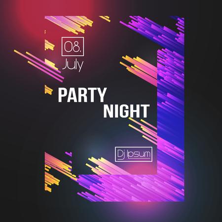 Modern Club Party Flyer - Vector Illustration