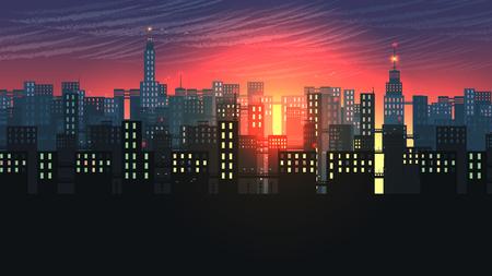 Urban City Nightscape.