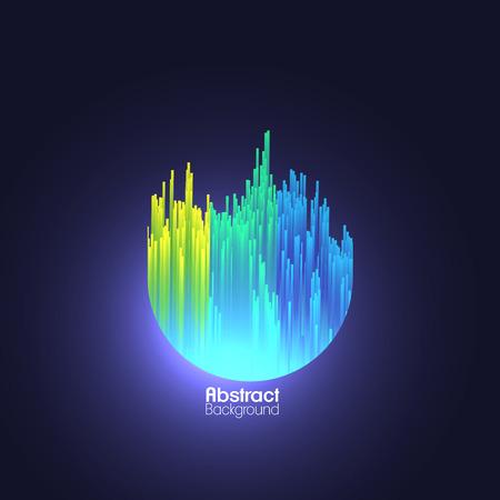 Abstract Fiber Optics Background  - Vector Illustration