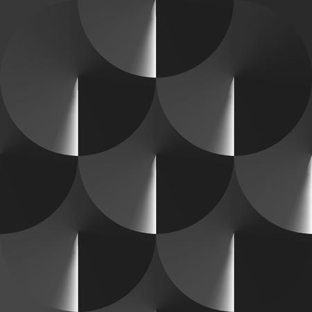 Geometric Spiral Gradient Pattern - Vector Illustration Illustration