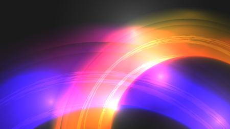 Abstract Background with Circles - Vector Illustration