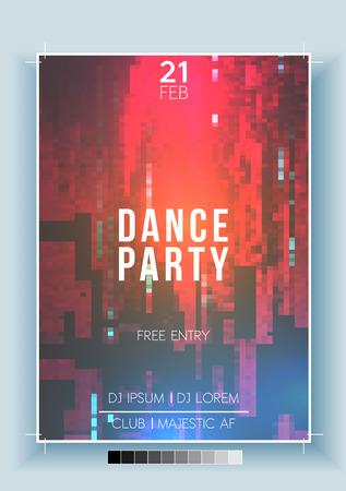 Abstract Fragmented Noisy Pixel Background Poster, Flyer Template - Vector Illustration 向量圖像