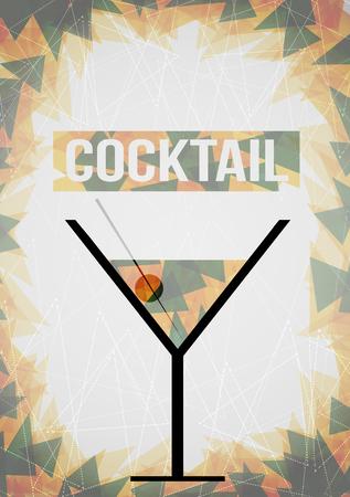 Cocktail Poster Template or Banner - Vector Illustration 向量圖像