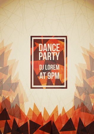 Abstract Party Poster with Triangle Background  - Vector Illustration