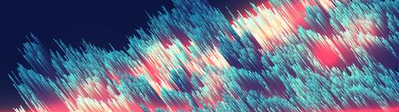 Abstract Fiber Optics Background Panorama