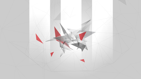 Abstract Geometric Background Template - Vector Illustration
