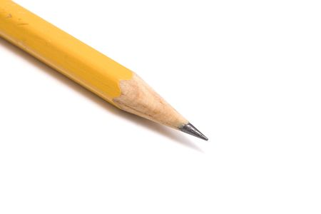 Pencil isolated on white background photo