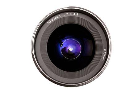 Camera Lens isolated on white photo