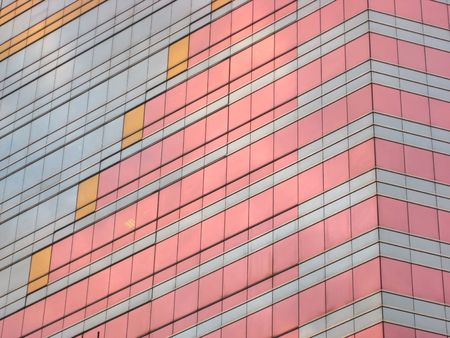 Modern glass facade in Hong kong photo