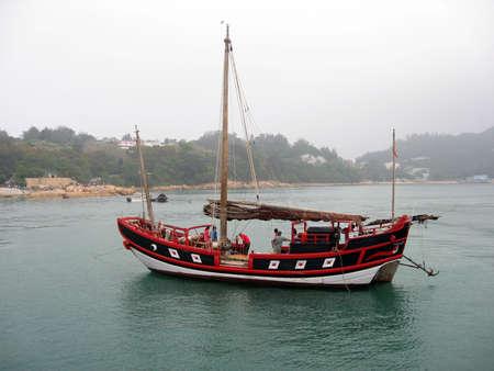Junk boat in Hong Kong Stock Photo - 5116396