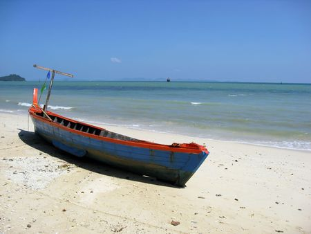 longtail: Longtail boat in Thailand Stock Photo