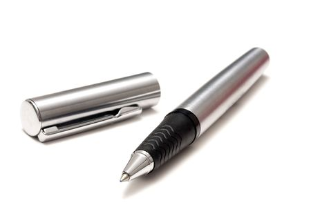 Ball Point Pen Isolated On White Stock Photo