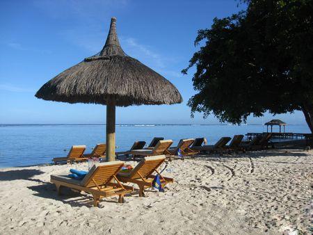 mauritius: Tropische strand in Mauritius