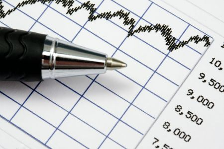 Stock market analyze Stock Photo