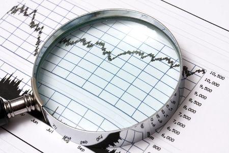 earning: Analysing the stock market Stock Photo