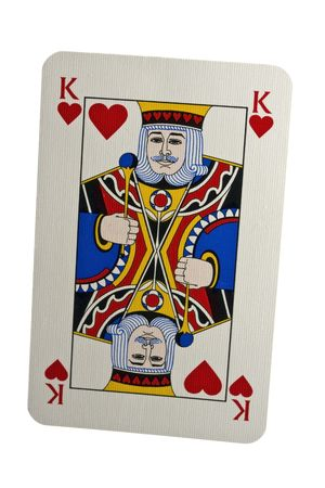 King Of Hearts Isolated on White photo
