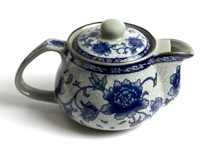 chinese tea pot: Olla de t� chino aislado sobre fondo blanco