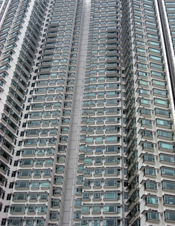 Tall and morden appartments building in Hong Kong  photo