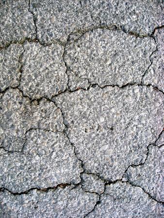 Cracks on asphalt background photo