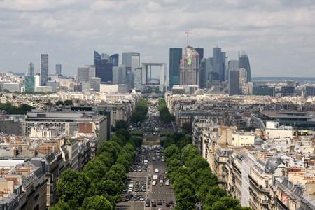 elysees: Aerial view of Paris Champs Elysees