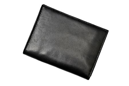 A Black wallet isolated on white background  photo