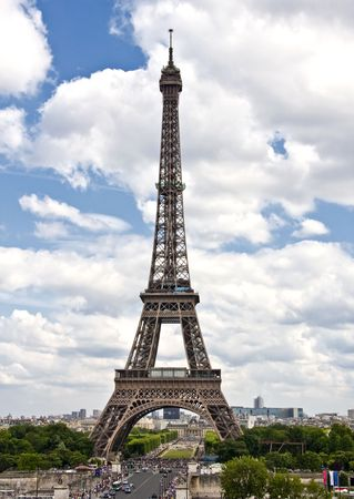 Famous and beautiful Eiffel tower,Paris ,France  Stock Photo - 8161970