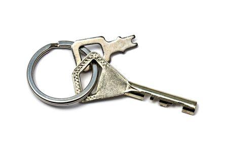 Keys isolated on white background photo
