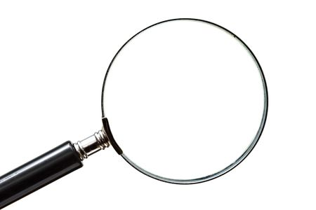 magnify glass: Magnifying glass isolated on white background